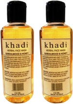Khadi Herbal Face Washes Khadi Herbal Sandalwood & Honey Twin Pack Face Wash