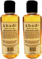 Khadi Herbal Sandalwood & Honey Twin Pack Face Wash (420 Ml)