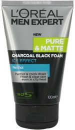 L 'Oreal Paris Face Washes L 'Oreal Paris Men Expert Pure & Matte Charcoal Black Foam Face Wash