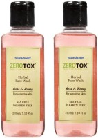 Healthbuddy Zerotox Herbal Rose & Honey, 2 Packs Of 210 Ml Each Face Wash (420 Ml)