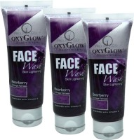 Oxyglow Bearberry & Grape Fairness Pack Of 3 Face Wash (300 Ml)