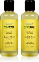Healthbuddy Zerotox Handmade Sandal & Almond, 2 Packs Face Wash (420 Ml)