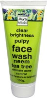 Auravedic Clear Brightness Pulpy With Neem Tea Tree Face Wash (80 G)