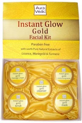 Auravedic Instant Glow Gold Facial Kit