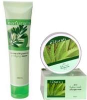 Avon Naturals Aloe Hydra Cool Overnight Face Mask (75ml) + Eye Mask (20g) 95 G (Set Of 2)