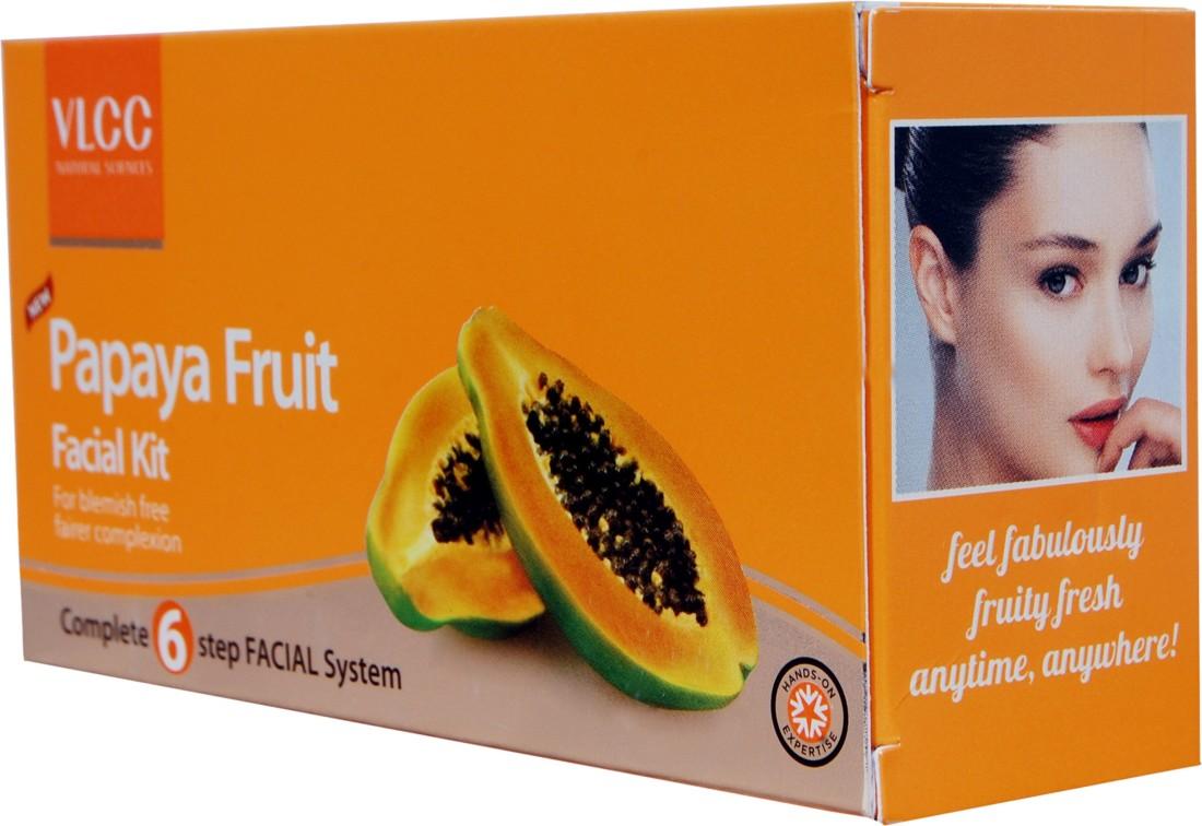 Buy VLCC Papaya Fruit Facial Kit 60 g online at lowest prices in India