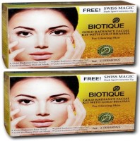 Biotique Gold Rediance Facial Kit With Gold Bhasma Pack Of 2(Set Of 4) 120 G (Set Of 4)