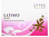Lotus Herbals Ultimo Gold 24 Karat Gold Facial Treatment 80 G (Set Of 6)