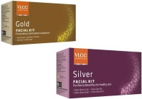 VLCC Gold And Silver Facial Kit With Cleanser, Toner, Scrub, Gel, Cream, Mask Herbal & Ayurvedic 60 G (Set Of 2)