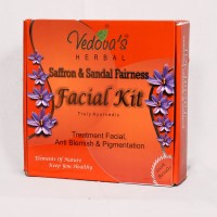 Vedova'S Herbal Care Saffron & Sandal Fairness Facial Kit 280 G (Set Of 6)