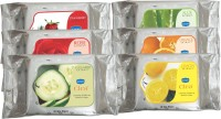 GINNI Cleansing & Refreshing Facial Wipes (Rose,Lemon,Aloevera,Orange,Strawberry,Cucumber) (pack Of 6) (30 Wipes Per Pack) (Pack Of 6)