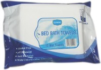 Ginni Bed Bath & Moisturize Skin & Help To Relax (Set Of 4) (10 Towels Per Pack) (Pack Of 10)