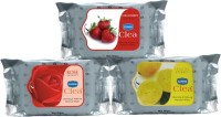 GINNI Refreshing Facial Wipes(Rose,Strawberry,Lemon)-3 Pack(30 Tissue Per Pack) (Pack Of 30)