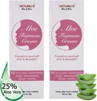 Yeturu's Aloe Fairness Cream (Aloe Vera 25%) 50gms (pack Of 2no's) (100 G)