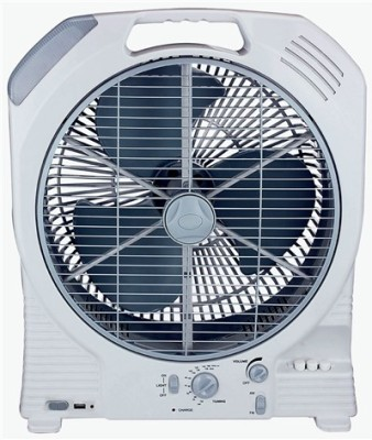 Super IT Nova 14 Inches Rechargeable Ac/Dc with Led Light , Fm Radio & Usb Output 3 Blade Table Fan White available at Flipkart for Rs.2999