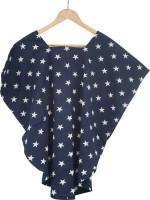Wobbly Walk 2-in-1 Poncho For Maternity & Nursing Feeding Cloak (Blue)