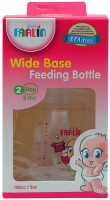 Farlin Wide Base Feeding Bottle  - Plastic (Pink)