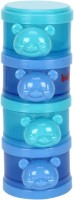 Babyoye Teddy Bear Milk Powder Container 4 Box-Blue  - Plastic (Blue)