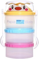Baby's Clubb Milk Powder Container With Fork And Spoon - Plastic (Multicolor)