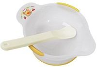 Rikang Baby Eating Practicing Bowl With Spoon  - BPA Free PP (Multicolor)