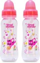 Small Wonder Embrace Bottle (Pack Of 2)  - Food Grade Polycarbonate Bottle, BPA Free Liquid Silicone Teat, BPA Free Polypropylene Accessories - Multicolour
