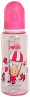 Farlin Slim-Waisted Feeding Bottle  - Plastic (Pink)