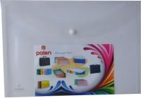 Polen Button Series Plastic Document Folder (A4 Compatible) (Set Of 12, White)
