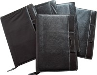 Renown Faux Leather Leather Conference File Folders (Set Of 5, Black)