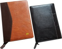 Renown Faux Leather Leather Conference File Folders (Set Of 2, Multi Colour) - FAFEK6VUF5MAGKGZ