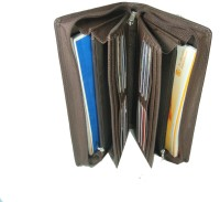 Essart Travel Kit PU Leather Cheque Book Holder (Set Of 1, Brown)