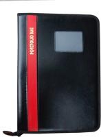 Aahum Sales Faux Leather Executive Series Portfolio File Folder (Set Of 1, Black)