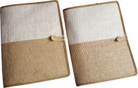 Renown Jute Made Jute Conference File Folder (Set Of 2, White)