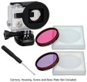 Fotodiox Pro Wonderpana Go H3 Underwater Kit With Two Water Correction Filters And Lens Cap - Pink And Purple Color Effect Filter