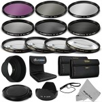 Goja 58Mm Complete Lens Filter Accessory Kit For Canon Eos Rebel Dslr Camera