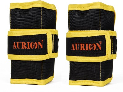 Aurion Aurion 2 Kg Wrist Weight 1 X 2 Fitness Band (Black, Yellow, Pack Of 2)
