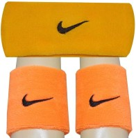 R-Lon Wrist And Head Combination Fitness Band (Orange, Yellow, Pack Of 3)