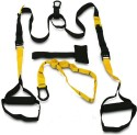 Home Gym Dynamics Suspension Trainer Heavy Duty Fitness Band - Black, Yellow, Pack Of 2