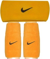 R-Lon Wrist And Head Combination Fitness Band (Yellow, Pack Of 3)