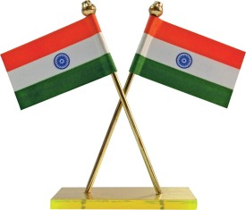 Bulb Centre India Double Sided Wind Car Dashboard Flag Flag