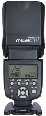 Yongnuo YN 560IV Wireless Speedlite for Canon,Nikon,Pentax, Fujifilm,Olympus,Panasonic Flash Black available at Flipkart for Rs.8050