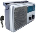 Philips RL384/40 With Inbuilt-Rechargeable Battery And (AC Adapter) FM Radio (Silver)