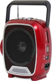 SoRoo Rechargable Multimedia FM Radio Speaker with USB and Torch - Sparkling Red FM Radio