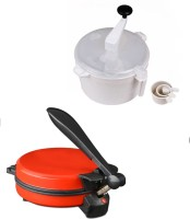 ECO SHOPEE COMBO OF NATIONAL DETACHABLE RED Roti- MAKER WITH DOUGH MAKER Roti/Khakhra Maker (Red)