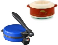 ECO SHOPEE COMBO OF NATIONAL BLUE DETACHABLE ROTI MAKER WITH CASSEROLE Roti/Khakhra Maker (Blue)