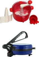 ECO SHOPEE COMBO OF NATIONAL BLUE Roti- MAKER WITH RED Dough Maker (Blue)