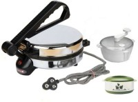 Deemark Dough Maker & Casserole Combo Pack Roti/Khakhra Maker (Black)
