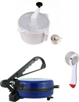 ECO SHOPEE COMBO OF NATIONAL BLUE ROTI MAKER, DOUGH MAKER AND PIZZA CUTTER Roti/Khakhra Maker (Blue)