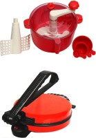 ECO SHOPEE COMBO OF NATIONAL RED Roti- MAKER WITH RED Dough Maker (Red)