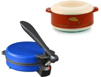 ECO SHOPEE COMBO OF EAGLE BLUE DETACHABLE ROTI MAKER WITH CASSEROLE Roti/Khakhra Maker (Blue)