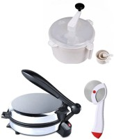 ECO SHOPEE COMBO OF NATIONAL DETACHABLE ROTI MAKER, DOUGH MAKER AND PIZZA CUTTER Roti/Khakhra Maker (Silver)